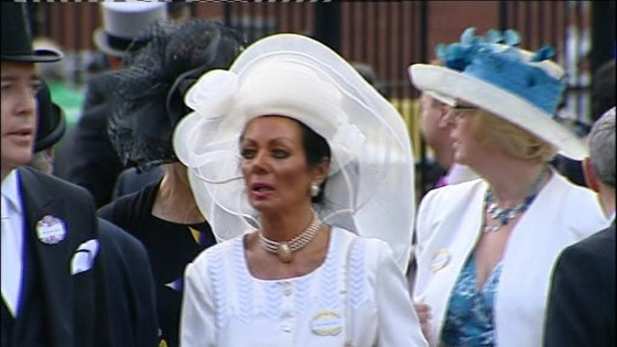 Actress Lorraine Chase at Royal Ascot.
