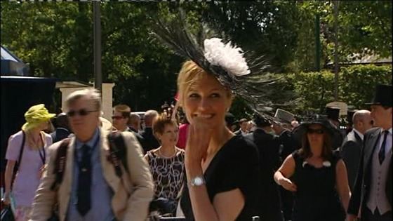 Racegoer at Royal Ascot.