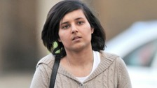 Mevish Ahmed, sister of Shafilea Ahmed, arrives at Chester Crown Court
