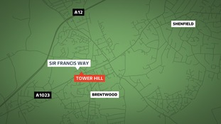 The man was found collapsed in Tower Hill in Brentwood at the junction with Sir Francis Way