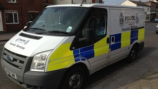 Police forensics van in Felixstowe