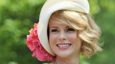 Britain's Got Talent judge Amanda Holden arrives at Royal Ascot.