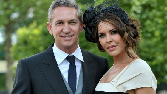 Gary Linekar and his wife Danielle at Royal Ascot.