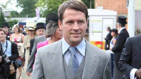 Footballer Michael Owen arrives at Royal Ascot.