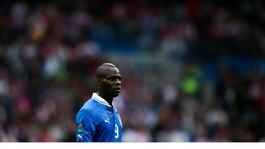 Italy striker Mario Balotelli during the match against Croatia.