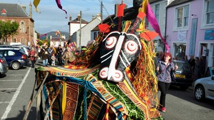 Trading Journeys arts event at Wigtown Book Festival, Dumfries and Galloway,