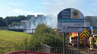 'Overheating fan' behind Bridgend primary school fire