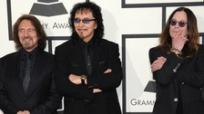 Black Sabbath arrives at the 56th annual Grammy Awards in January.