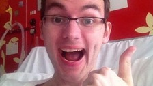 Stephen Sutton's thumbs up was copied all over the world.