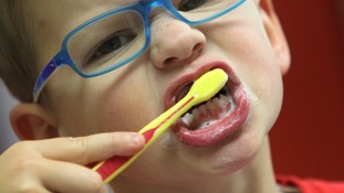 Try to make brushing your teeth fun to encourage children.