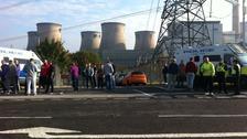 Ferybridge workers strike over toilet facilities