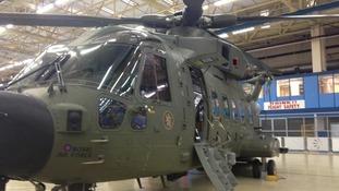 Handover ceremony for RAF Merlins in Oxfordshire