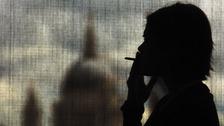A smoker in London.