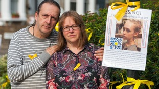 Jose Gross and Rosalind Hodgkiss, Alice's parents, seen making an appeal for her return last week.