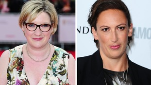 Sarah Millican (left) and Miranda Hart have driven a rise in ticket sales for female comics.
