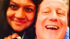 Parveen Hassan persuaded the Tory leader to pose for several shots