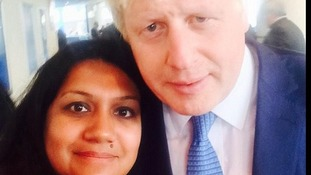 Parveen Hassan with London mayor Boris Johnson