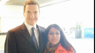 Parveen Hassan with Chancellor George Osborne