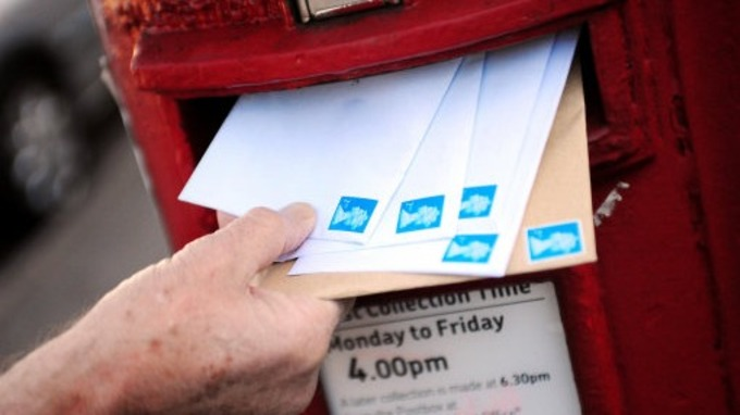Letters being posted