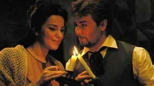 Angela Gheorghiu and Roberto Alagna perform in La Boheme.