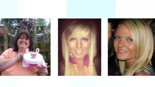 Anne Peachey, Rebecca Learoyd and Megan Robinson were killed.