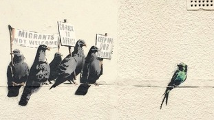 Banksy mural in Clacton-on-Sea