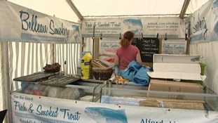 A food stall at the Lincolnshire show