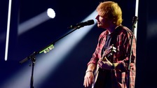 Ed Sheeran performing at the Roundhouse in London earlier this week.