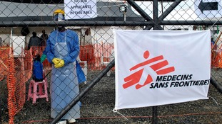The freelance cameraman was treated at a Medecins Sans Frontieres centre in Monrovia.
