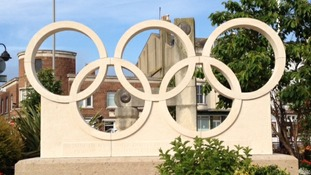 Olympic sculpture takes pride of place