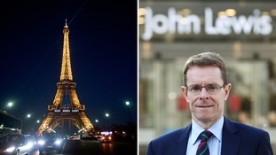 Andy Street claimed France is 'finished' but John Lewis insisted the comments were 'tongue-in-cheek'.