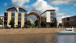 Artists impression of the Quayside and Winter Gardens.