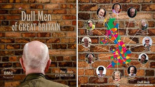 The front and back of the Dull Men of Great Britain calendar.