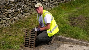 Drain spotter Archie Workman, from Cumbria.