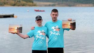 Kielder 10km winners Mark Fenwick and Fiona Blackett.