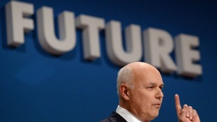 Iain Duncan Smith at the Tory conference.