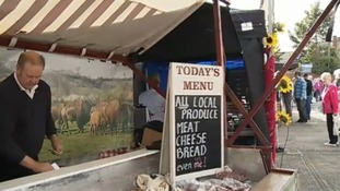 Local produce is on offer for over 10,000 visitors