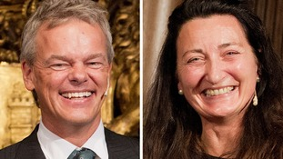 Joint Nobel prize winners May-Britt Moser and Edvard Moser.