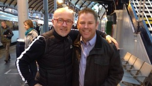ITV Tyne Tees' Kenny Toal with Tony the Fridge