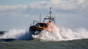 Navy, helicopters and lifeboatshave been launched in for the ship search.