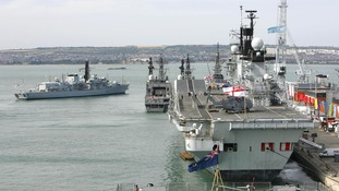 HMS St Albans located the stricken yacht off the Dorset coast.