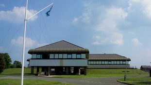 Current communications centre building at RAF Stanbridge in Bedfordshire