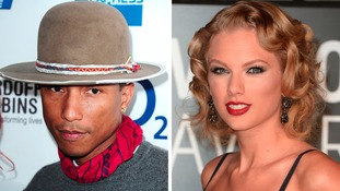 Pharrell Williams and Taylor Swift, who are set to kick off The X Factor's live shows as the first star performers of the series.