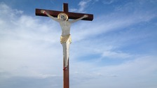 9 Foot Crucifix on Workington's Slag Banks