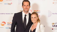 Sir Ben Ainslie and Georgie Thompson pictured at the Radio Academy Awards in May.