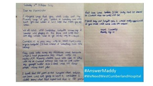 Maddy's letter to the Prime Minister