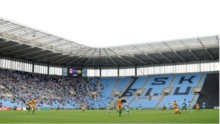 Coventry City take on Yeovil Town at the Ricoh Arena last month