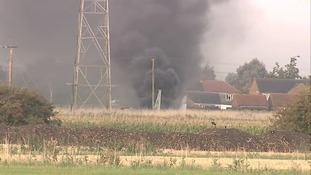 A US military plane has crashed in a field near Spalding.