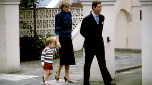September 1985: Prince William arriving for his first day at school