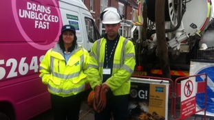 Severn Trent sewer service team